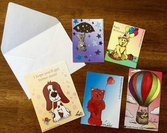 Lovely Greeting Cards – Version 2 – Set of 5