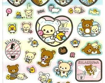 Rilakkuma Stickers, cute, kawaii