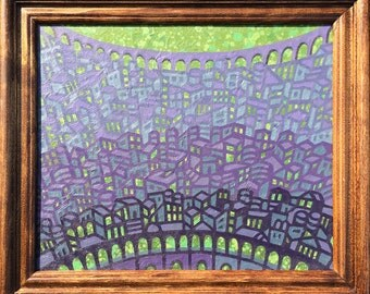 Violet City Painting