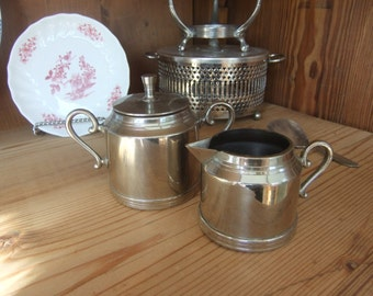 1920's silverplated sugar and cream set - in perfect condition