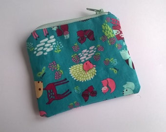 Woodland creatures coin purse