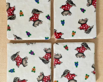 Brighten Any Day with Cheery Scotty Dog Coasters