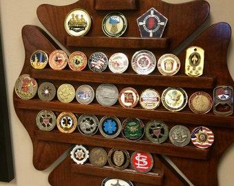 Maltese Cross Challenge Coin Shelf