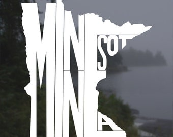 Minnesota Decal, Minnesota Sticker, Laptop Decal, Laptop Sticker, Macbook Decal