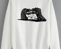 Unique Dinosaur Sweatshirt Related Items Etsy