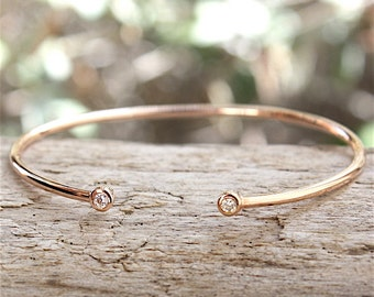 rose gold plated Bangle and cz