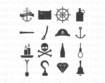 Pirates set svg bundle Cut files for Cricut Silhouette Digital download clipart Pirates vector cut Vinyl designs for cutting machines