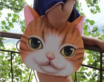Orange Tabby Cat Bag/Purse (LARGE)