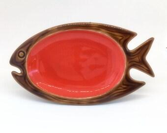 Coupelle poisson années 60 en céramique Vallauris