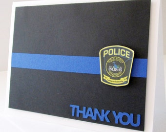 Police Thin Blue Line Card