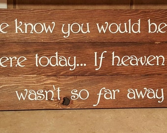 Personalized Wooden Sign - We Know...