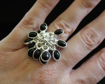 Black Onyx Ring Size 7.5 !