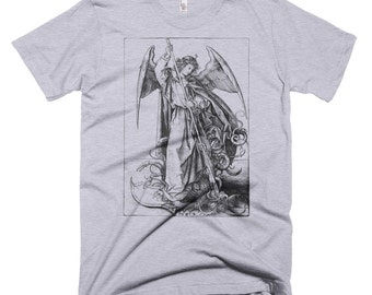 Angel & Dragon Illustration Men's T-Shirt - St. Michael Slaying the Dragon