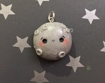 Kawaii Moon Charm Adorable Filofax Planner Charm