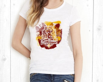 FREE SHIPPING! Gryffindor T-shirt, Harry Potter T-shirt, Harry Potter Gift, Harry Potter gift for him, Harry Potter gift for her