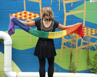 Colors of the Rainbow in Rectangles Scarf