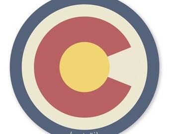 The Big Colorado C 4 inch Vinyl Sticker