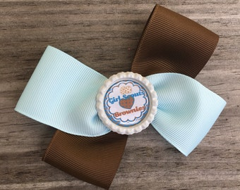 Brownies Hair Bow / Brownies Bow / Girl Scouts Bow