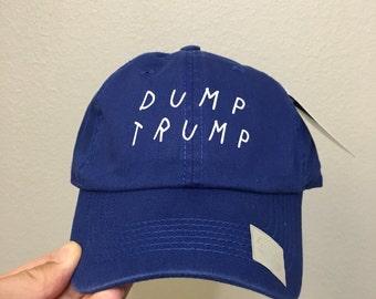 Royal Blue-  Dump trump fuck Trump dad Hats  cap Hat dump trump  elections  debate  not trump donald trump  america america is fucked hillar
