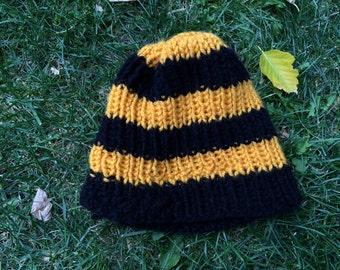 Liberty Stripe Knit Black/Yellow Toddler Beanie