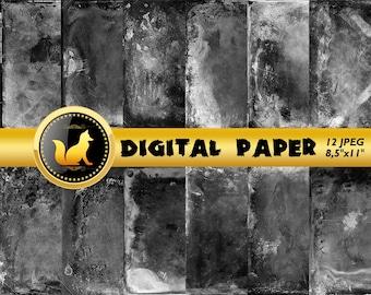 Black Old Wall Digital Paper,Scrapbook Paper,Black old wall Background,Old Wall art,digital paper,Black Background,grunge,distressed wall