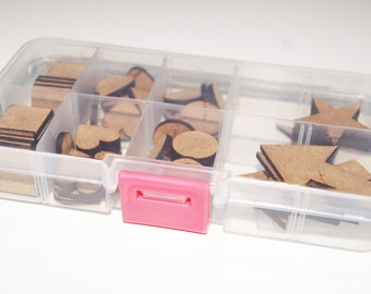 Mixed Box of MDF Wooden Shapes for Craft/Scrap-booking
