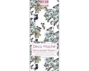 3 paper mache Deco 26 x 37.5 cm First edition FLOWER VINES