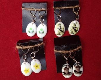 Ceramic Charm Earrings Varied Styles