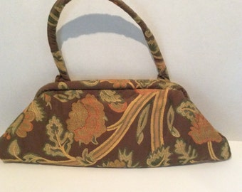 Vintage tapestry bag handbag