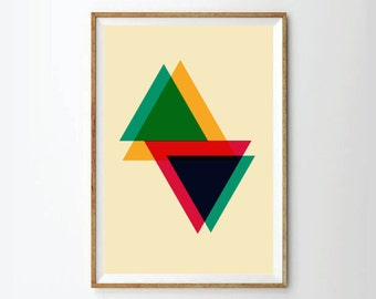 Abstract print poster, modern print poster, neon print poster, geometric print poster, poster, posters
