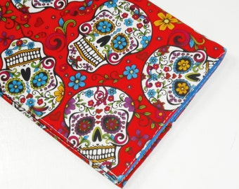 Sugar Skulls Diary / Portable Journal / Day of the Dead Notebook / Mexican Folklore Ruled Agenda To Do List -- Other Colors Available
