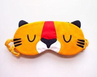 Sleep Eye Mask - Tabby Tiger (Yellow Tiger)