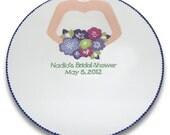 Wedding Dress Bridal Shower Guest Signature Platter