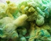 Citra - greens & yellows, BFL X Fleece with lots of curl - soft and springy