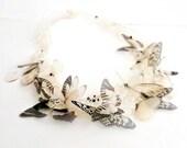 Albino Butterflies Necklace