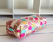 Long box pouch - hedgehog pink