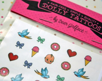 DOLLY TATTOOS / Cute n' Sweet Set / Blythe Doll Accessory