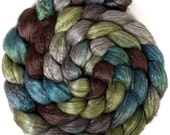 Handpainted Yak Silk Roving - 4 oz. METRO - Spinning Fiber