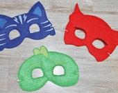 PJ Masks Inspired Masks Wristband Set Disney Jr. Inspired Masks Bracelet Party Favor Kids Bracelet