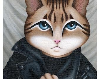 Joseph Martucci, Class of '98 - Cat Print