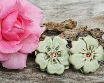 Handmade Ceramic Beads Set of 2