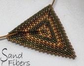 Custom Autumnal Triangle Peyote Pendant  - RESERVED for Alice