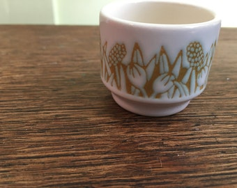 "Vintage Hornsea Small Ceramic Egg Cup ""Fleur"""