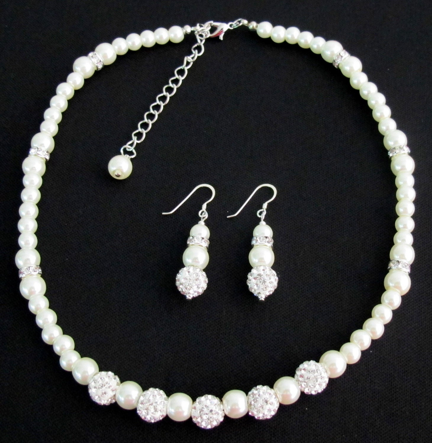 flower girl jewelry sets wedding flower jewelry set bridal pearls junior bridesmaid 4184