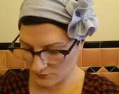 lavender flapper girl headband in thermal