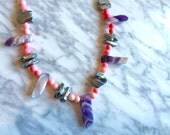 Magical aura crystal quartz necklace!