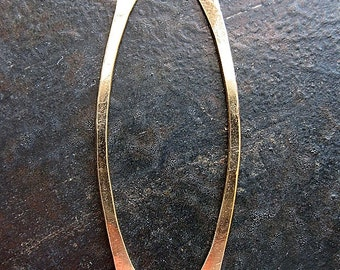 Gold Filled Sea Grass - 1 pair - 1.5 inch - 16 gauge Hammered Double Hole Bars