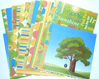 Card Stock Summer Time Food and Fun 24 Sheets