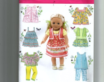 "Simplicity 18"" Doll Clothes Pattern 2296"