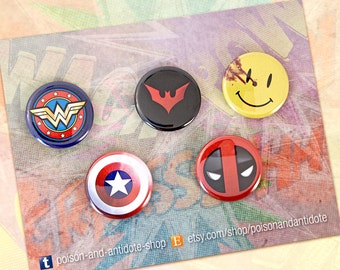 Comic Con Collective - 5-pin button pack